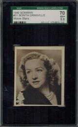 1948 Movie Stars #31 Bonita Granville  SGC 70 EX+ 5.5   #*