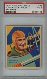 1933/4 SKY BIRDS #39 EDWARD A. STINSON PSA 3 VG   #*