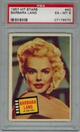 1957 Hit Stars #40 BARBARA LANG PSA 6 EX-MT   #*