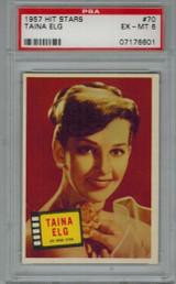 1957 Hit Stars #70 TAINA ELG PSA 6 EX-MT  #*