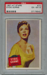 1957 Hit Stars #10 EYDIE GORME PSA 6 EX-MT  #*