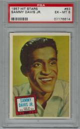 1957 Hit Stars #83 SAMMY DAVIS JR PSA 6 EX-MT  #*
