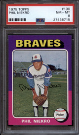 1975 Topps #130 Phil Niekro PSA 8 NM-Mint
