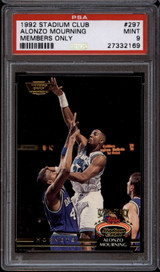1992-93 Stadium Club Members Only #297 Alonzo Mourning PSA 9 Mint