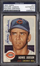 1953 Topps #12 Howie Judson DP PSA DNA Signed Auto