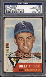 1953 Topps #143 Billy Pierce PSA DNA Signed Auto