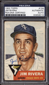 1953 Topps #156 Jim Rivera DP PSA DNA Signed Auto RC Rookie