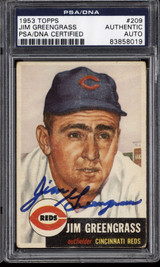 1953 Topps #209 Jim Greengrass PSA DNA Signed Auto RC Rookie