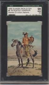 1957 Quaker F279-8 Braves Of Indian Nations #6 Blackfeet Warrior SGC 98 Gem Mint 10   #*