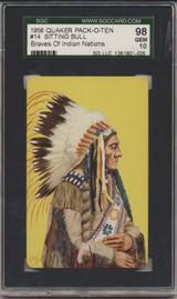 1957 Quaker F279-8 Braves Of Indian Nations #14 Sitting Bull SGC 98 Gem Mint 10   #*