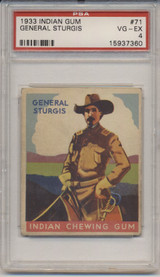 1933 Goudey #71/96 General Sturgis PSA 4 VG-EX   #*