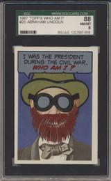 1967 Who Am I! #25 Abraham Lincoln SGC 88 NM/MT 8  #*