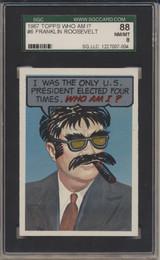 1967 Who Am I! #6 Franklin Roosevelt SGC 88 NM/MT 8  #*
