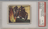 1950 Topps Freedom War #15 Reinforcements On The Move PSA 6 EX-#MT Tan Back  #*
