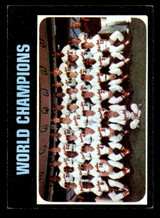 1971 Topps #1 World Champions Orioles Excellent+  ID: 307052