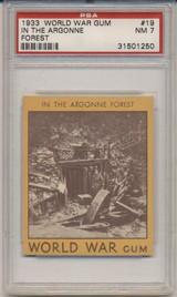 1933 World War Gum R174 #19 In The Argonne Forest PSA 7 NM  #*