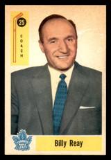 1958-59 Parkhurst #25 Billy Reay CO Ex-Mint