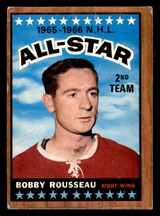 1966-67 Topps #132 Bobby Rousseau AS Poor