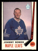 1969-70 O-Pee-Chee #187 Johnny Bower Miscut OPC