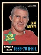 1970-71 O-Pee-Chee #243 Carl Brewer AS Ex-Mint OPC