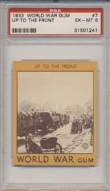 1933 World War Gum R174 #7 Up To The Front PSA 6 EX-MT  #*