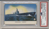1940's R112-6 Card-O US Navy Series A Packed With Card-O Chewing Gum Submarine Tambor PSA 5 EX  #*
