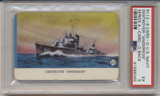 1940's R112-6 Card-O US Navy Series A Packed With Card-O Chewing Gum Destroyer Anderson PSA 5 EX   #*