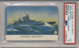 1940's R112-6 Card-O US Navy Series A Packed With Card-O Chewing Gum Battleship New Mexico PSA 5 EX  #*