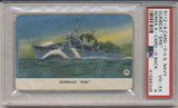 1940's R112-6 Card-O US Navy Series A Packed Card-O With Chewing Gum Gunboat Erie PSA 4 VG-EX  #*