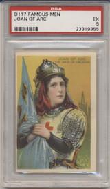 1920's D117 Famous Men Weber Baking Co. Joan Of Arc PSA 5 EX  #*