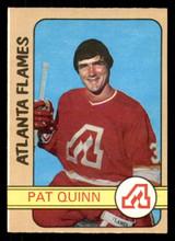 1972-73 O-Pee-Chee #183 Pat Quinn Ex-Mint OPC