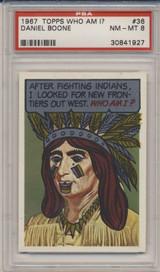 1967 Who Am I! #36 Daniel Boone PSA 8 NM-MT  #*#