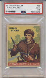 1933 Goudey #50/96 Daniel Boone PSA 3.5 VG +  #*