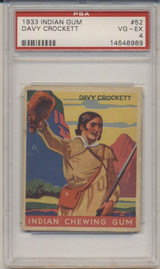 1933 Goudey #52/96 Davy Crockett PSA 4 VG-EX  #*