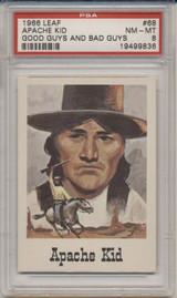1966 Leaf Good Guys #68 Apache Kid PSA 8 NM-MT  #*