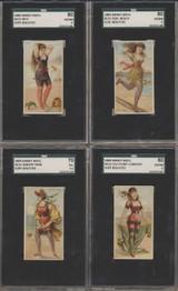 1889 N232 Kenney Bros. Surf Beauties SGC Graded lot 40 of 50 GPA 3.875 VG++++  #*