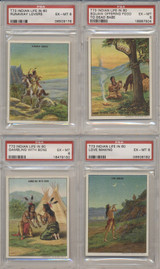 1910 Hassan Cork Tip Cigarettes Indian Life In The 1860's Set 50 GPA 5.07 EX  #*
