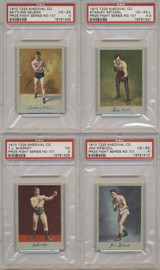 1910 T225-1 KHEDIVIAL PRIZE FIGHT SERIES NO. 101 SET (25) PSA GPA 3.84  #*