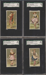 1889 N185 KIMBALL & CO DANCING GIRLS OF THE WORLD SGC GRADED SET 50 GPA 55.28 VG-EX+  #*