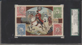 1900's Golden West K138 Mail Carriers & Stamps Turkey SGC 20 Fair 1.5  #*