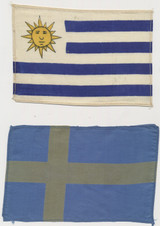 1930's Silk Flags About 4 by 6 1/4 inches Lot 6  #*