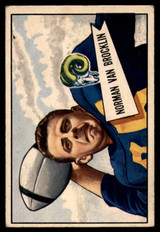 1952 Bowman Small #1 Norm Van Brocklin VG Very Good