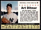 1961 Post Cereal #16 Art Ditmar Near Mint+
