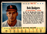 1963 Post Cereal #31 Bob Rodgers Poor