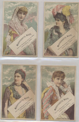1890's Victorian Trade Cards Massachusetts House Actress Lot 6  #*