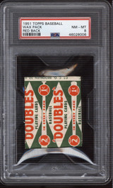 1951 Topps Red Back Unopened Pack PSA 8 NM-Mint ID: 308514
