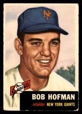 1953 Topps #182 Bobby Hofman Very Good  ID: 308532