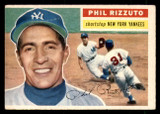 1956 Topps #113A Phil Rizzuto Grey Backs Miscut