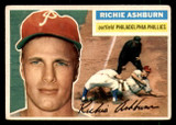 1956 Topps #120A Richie Ashburn Grey Backs Very Good  ID: 308632