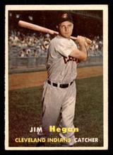 1957 Topps #136 Jim Hegan Excellent+  ID: 308653